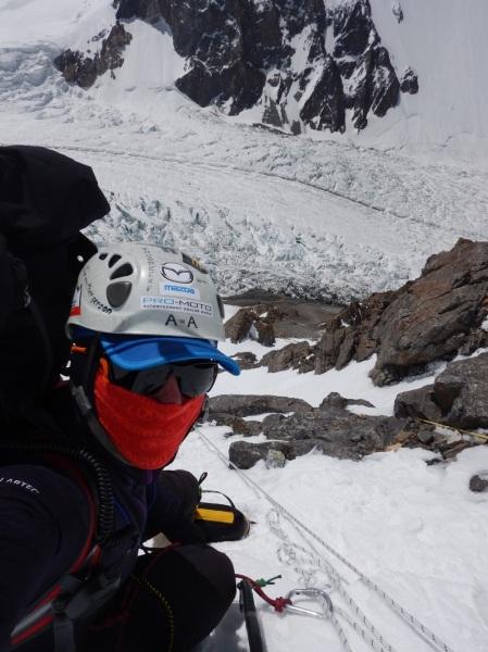 Na podejściu do C1, wysokość 5900 m (fot. arch. Artur Małek)