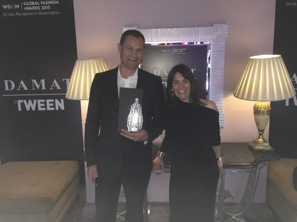 Przedstawiciele marki Polartec z nagrodą