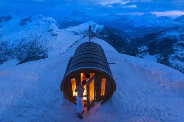 Stefano Zardini / National Geographic Traveler Photo Contest, Sauna in the Sky