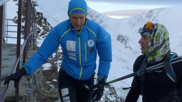 27 czasówka na Mont Blanc, pod schroniskiem Gouter z Marcinem Rzeszótko