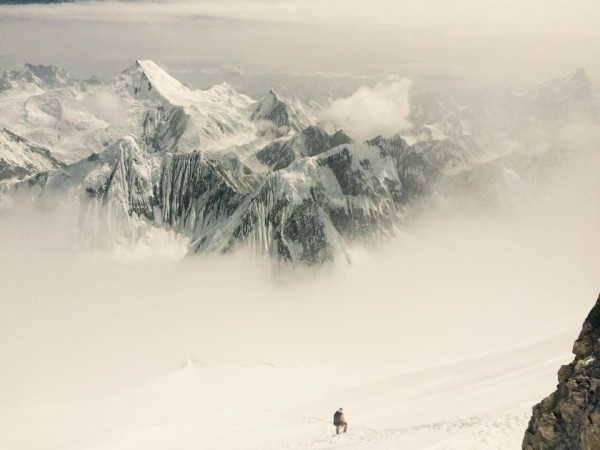 Zejście ze szczytu Gasherbruma II (fot. Kinga Baranowska)