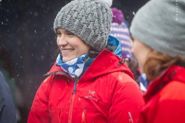 Agnieszka Korpal podczas 3. edycji Zimowego Ultramaratonu Karkonoskiego (fot. Bikelife)