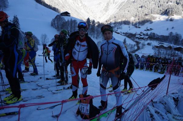 Karol Karpierz (TKN Tatra Team) i Piotr Krygowski (Polar Sport Team) na Pierra Menta