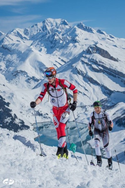 Karol Karpierz (TKN Tatra Team) i Piotr Krygowski (Polar Sport Team) na Pierra Menta (fot. Piotr Dymus)