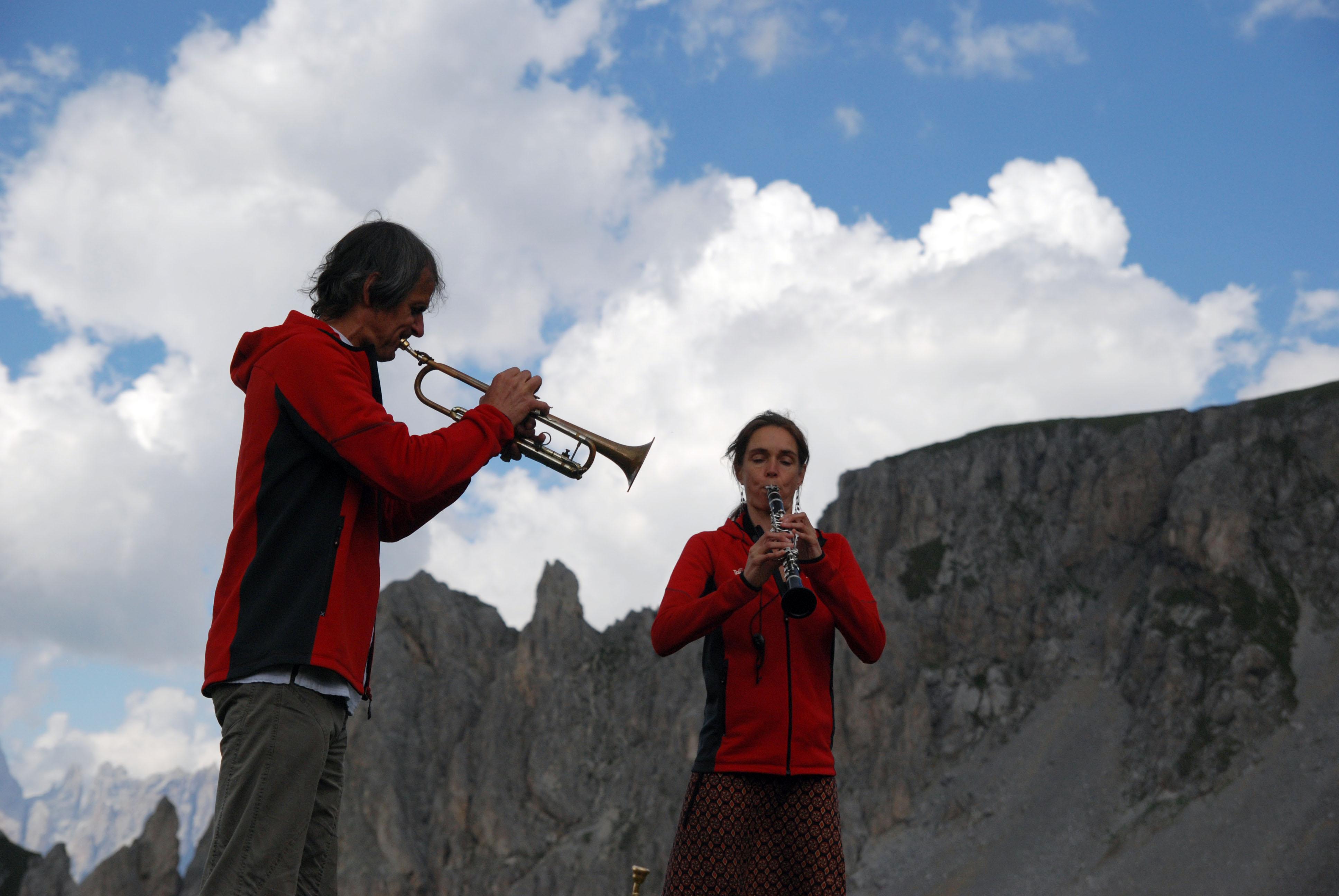 Markus Stockhausen i Tara Bouman (I Suoni delle Dolomiti 2016)
