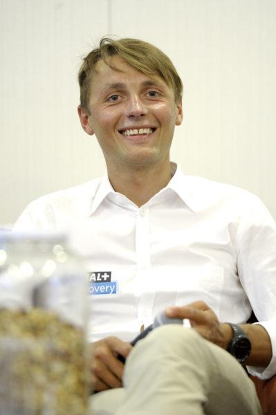 Andrzej Bargiel podczas konferencji prasowej