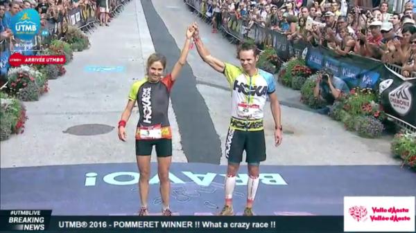 Zwycięzcy UTMB: Caroline CHAVEROT & Ludovic POMMERET