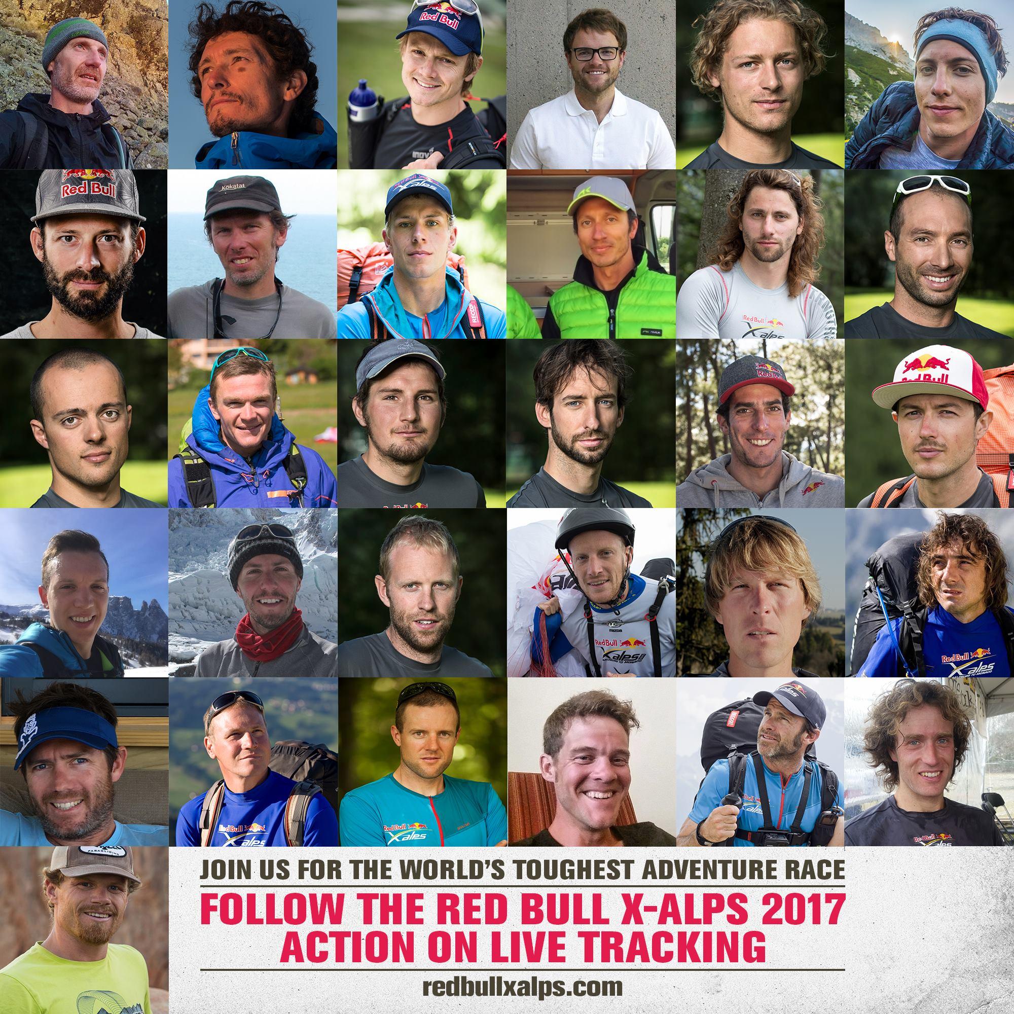 Zawodnicy Red Bull X-Alps 2017