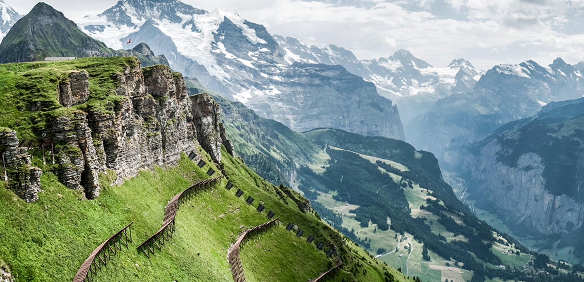 Zapierające dech w piersiach otoczenie, pośród którego rozgrywane są zawody Eiger Ultra Trail