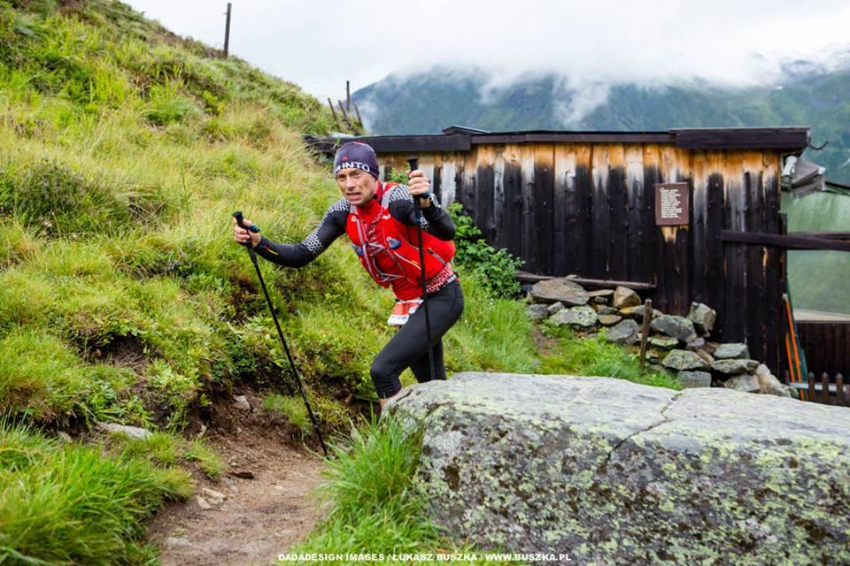 Piotr Hercog podczas Pitz Alpine Glacier Trail 2016  (fot. Łukasz Buszka)