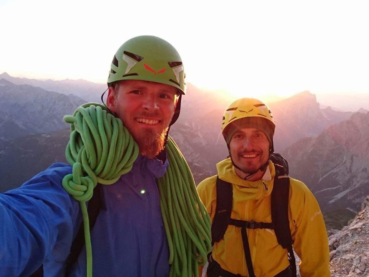 Zmęczeni i szczęśliwi. Po pokonaniu Project Fear 8c (fot.arch. Alpine Wall Tour)