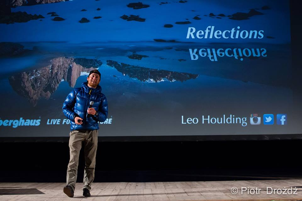 "Leo Holuding i jego ""reflection"" (fot. Spotkania z Filmem Górskim)"