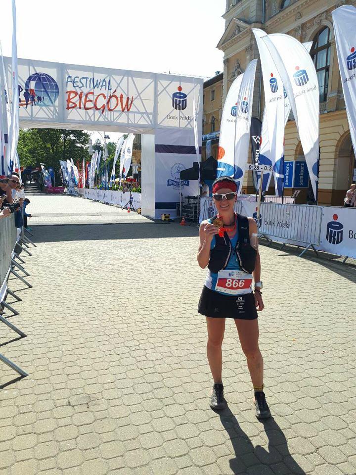 Magda Łączak - trzecia w klasyfikacji generalnej i pierwsza wśród kobiet w Biegu 7 Dolin (fot. FB)