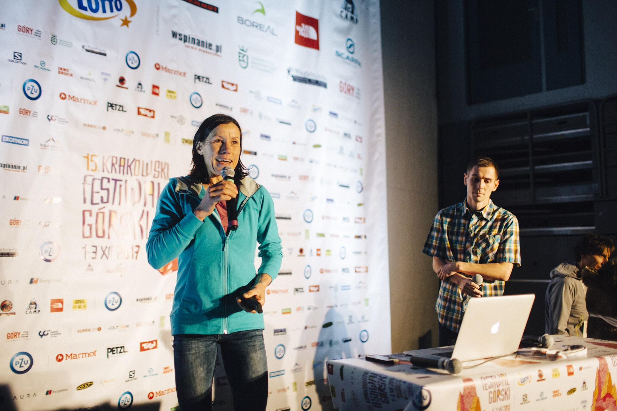 Ines Papert na 15. Krakowskim Festiwalu Górskim (fot. Adam Kokot/KFG)