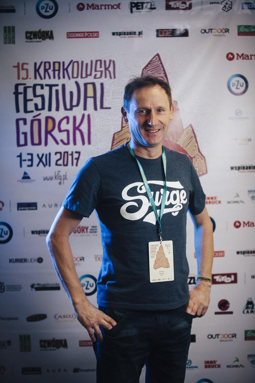Janusz Gołąb na 15. Krakowskim Festiwalu Górskim (fot. Adam Kokot/KFG)