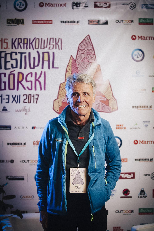 Peter Habeler na 15. Krakowskim Festiwalu Górskim (fot. Adam Kokot/KFG)