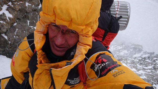 Denis Urubko podczas akcji na K2 (fot. urubko.blogspot.com)