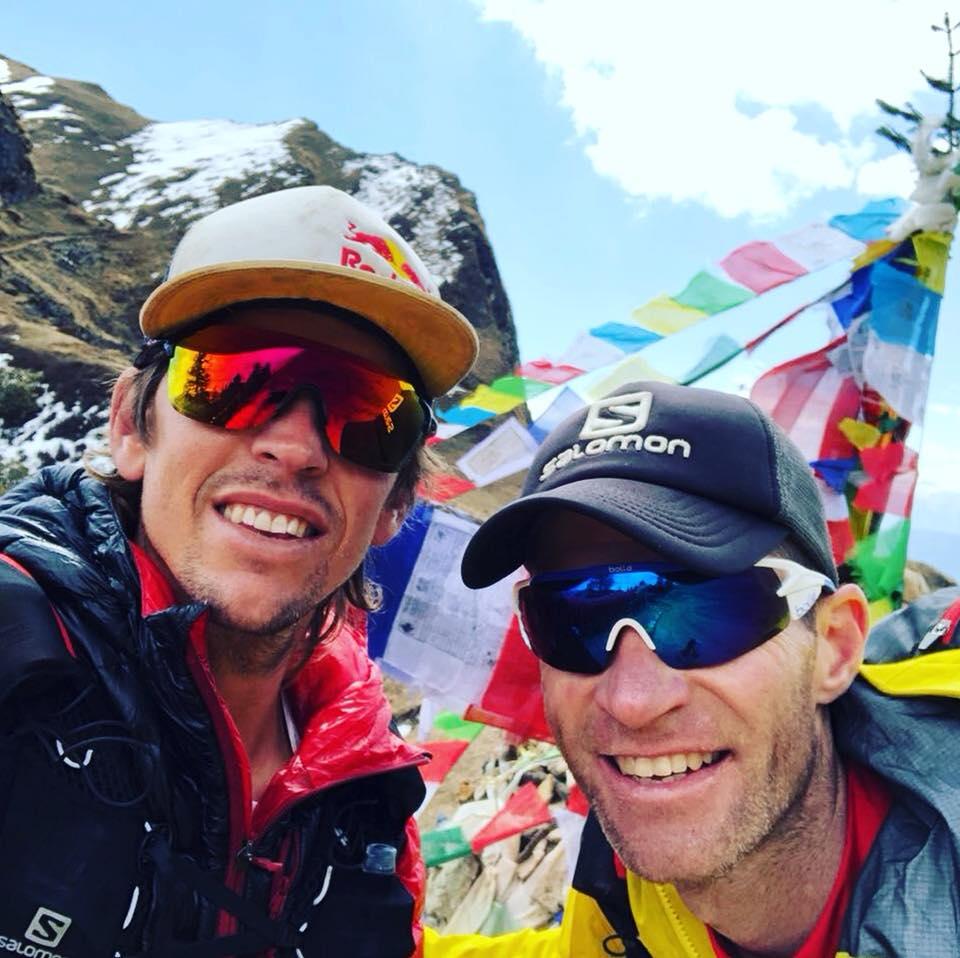 Ryno Griesel i Ryan Sandes na trasie Wielkiego Szlaku Himalajskiego (fot. Vanessa Haywood-Sandes - profil FB)