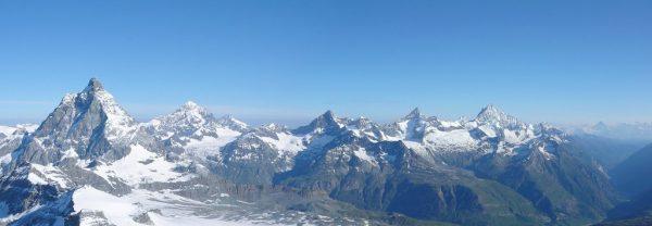 Panorama z Klein Matterhorn (fot. summitpost.org)