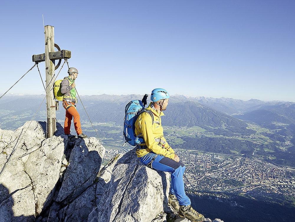 Jeden ze szczytów przez, który przechodzi 2-etapowa via ferrata Nordkette (fot. Innsbruck Tourismus)
