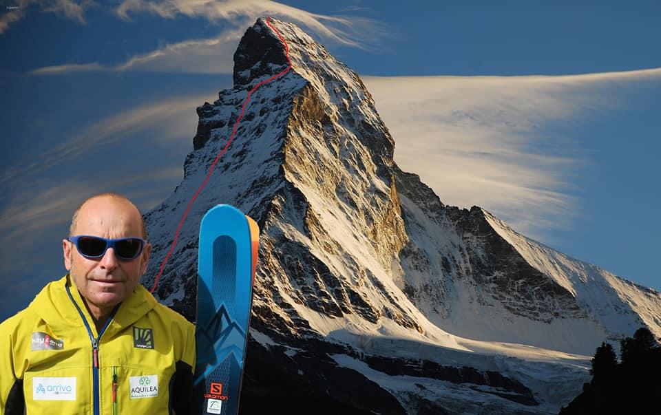 Edmund Joyeusaz i Matternhorn (fot. montagna.tv)