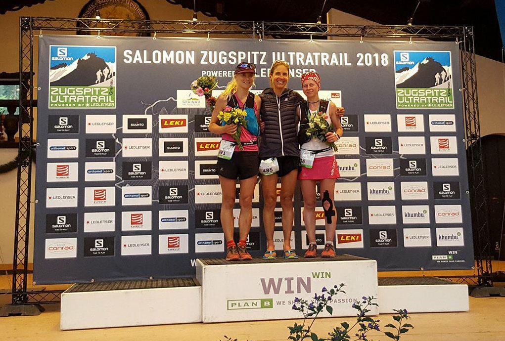 Magda Łączak na podium Zugspitz Ultratrail 2018