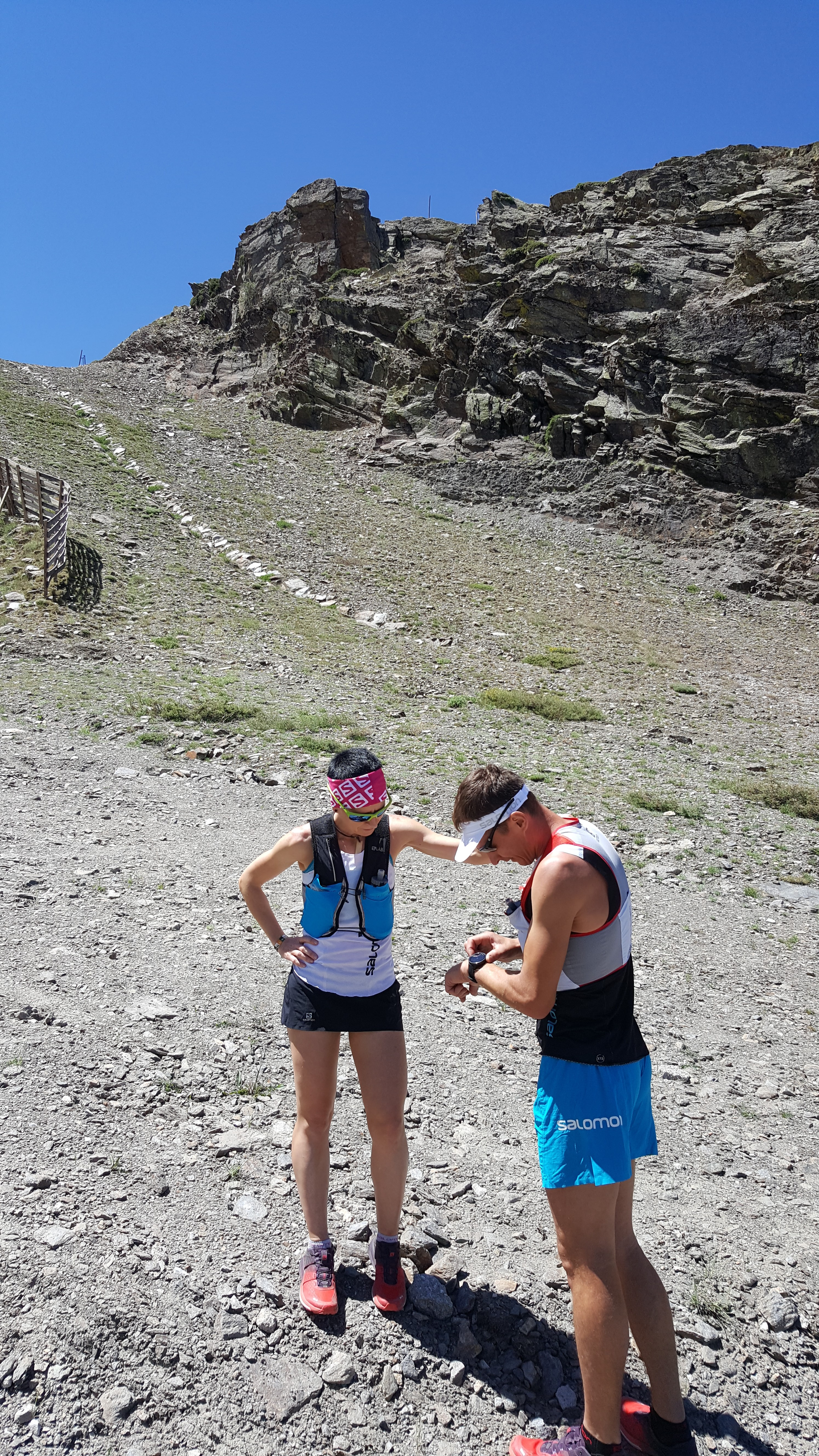 Magda i Paweł podczas treningu przedstartowego w Sierra Nevadzie (fot. Magda Łączak / Paweł Dybek / Runandtravel)