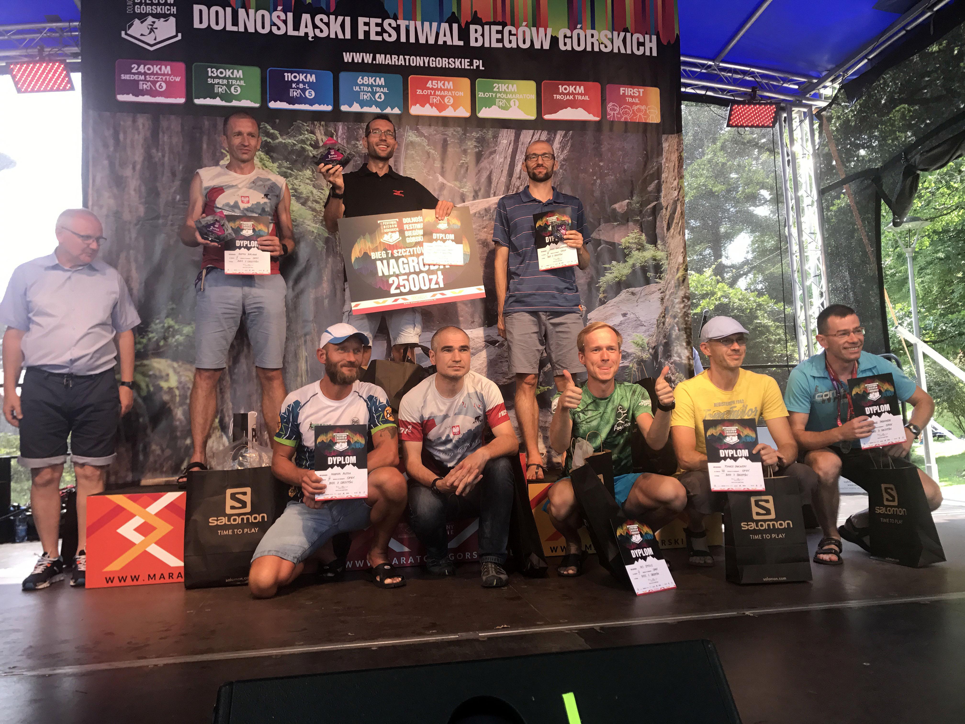 Najlepsi w Biegu 7 Szczytów. Dolnośląski Festiwal Biegów Górskich 2018, Lądek Zdrój (fot. Przemysław Ząbecki)