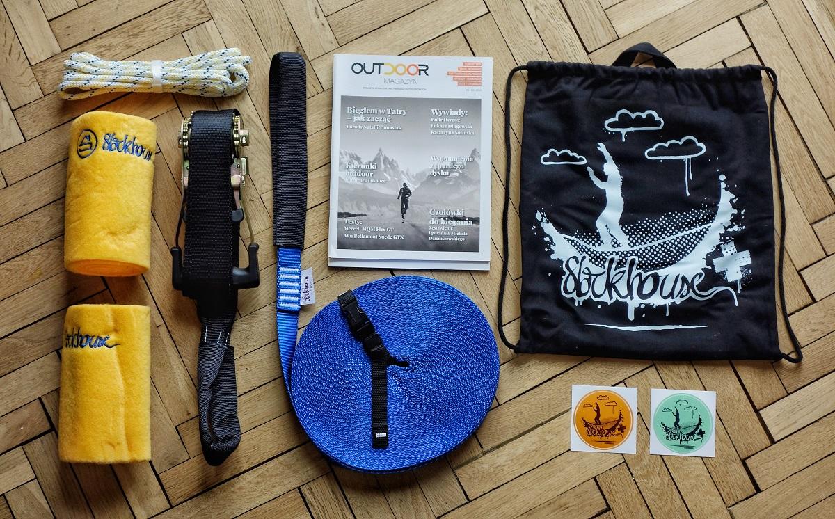 Nagroda dla zwycięzcy konkursu - zestaw do slackline (fot. Outdoor Magazyn)
