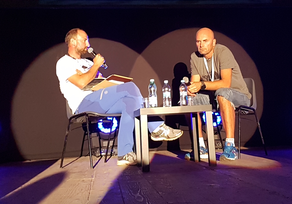 Jakub Brzosko i Rafał Fronia podczas prelekcji (fot. Izabela Wysocka)