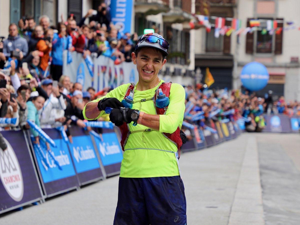 Xavier Thévenard - zwucięzca biegu UTMB 2018 (fot. iRunFar/Bryon Powell)