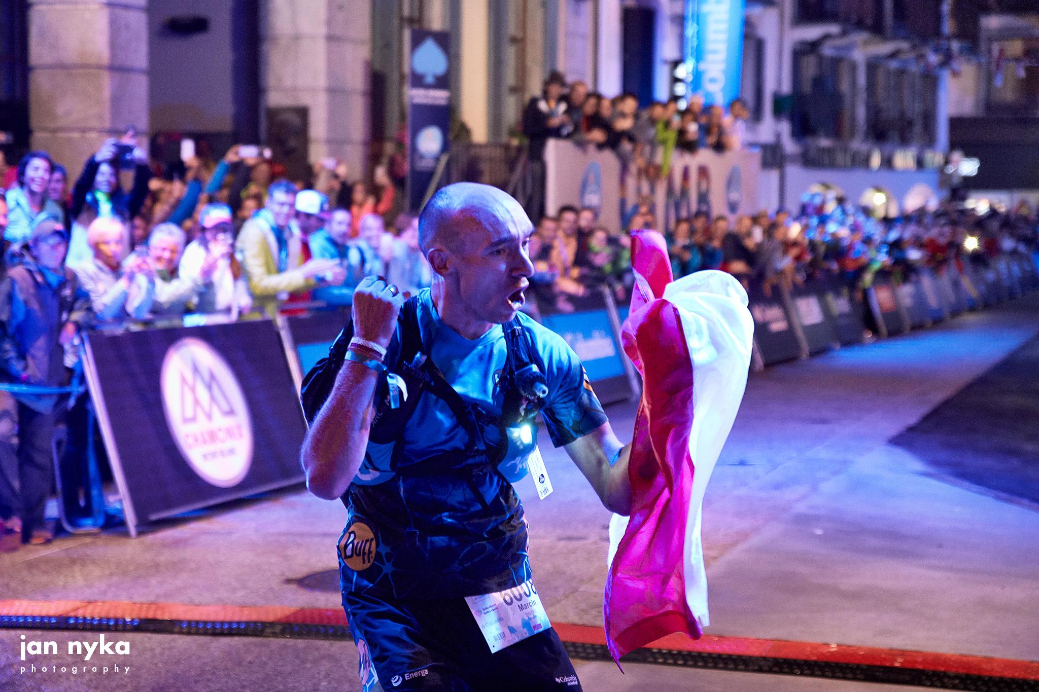 Marcin Świerc - pierwszy na mecie biegu TDS 2018 (fot. Jan Nyka)