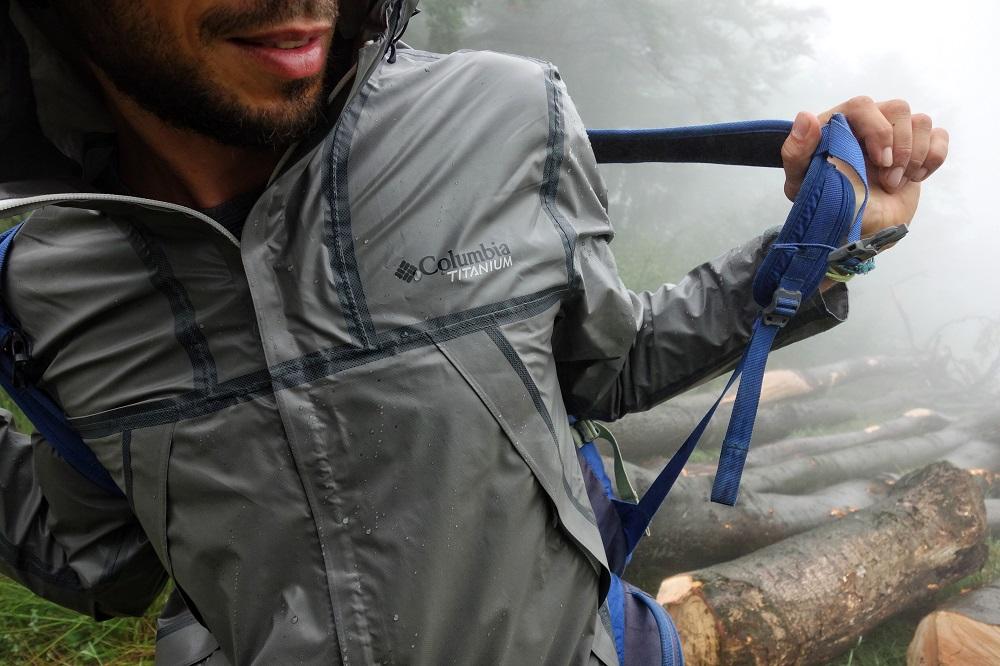 Jeden z testów kurtki OutDry™ Extreme Eco marki Columbia (fot. Outdoor Magazyn)