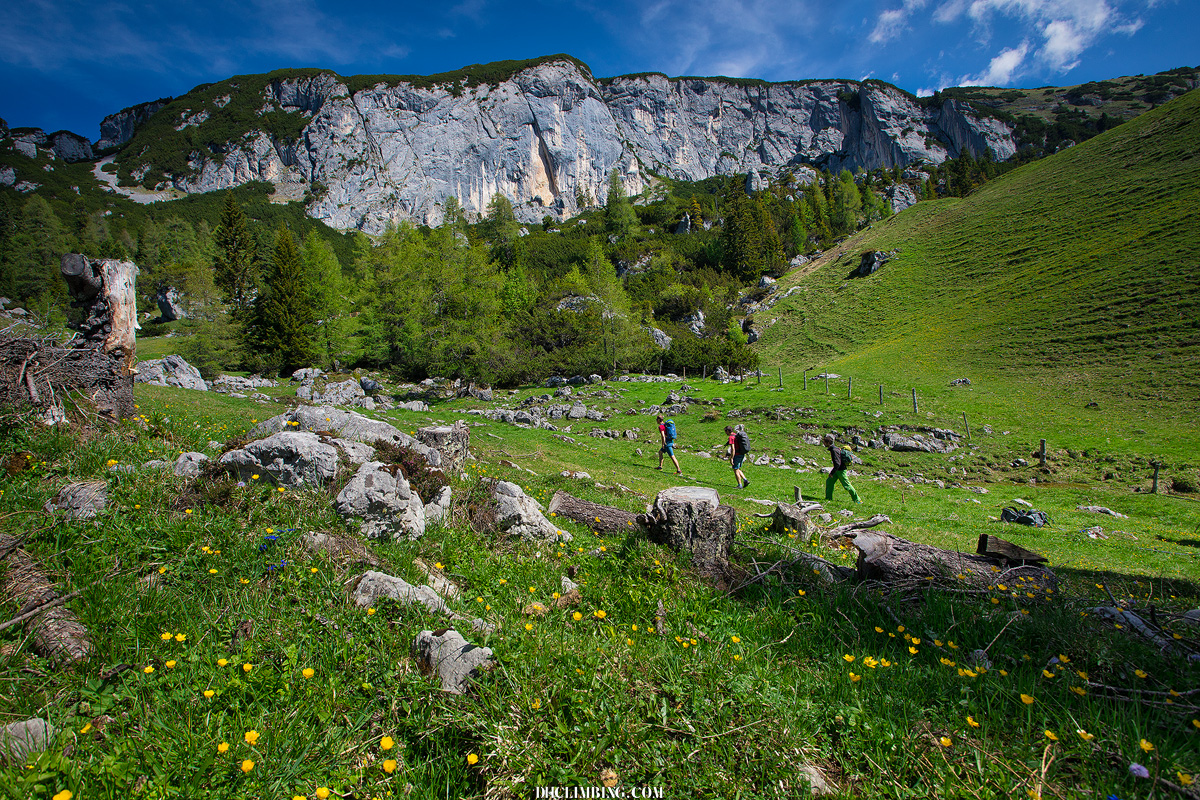 Redakcja OM podczas jednego z testów w austriackim Tyrolu (fot. Piotrek Deska / DH Climbing)