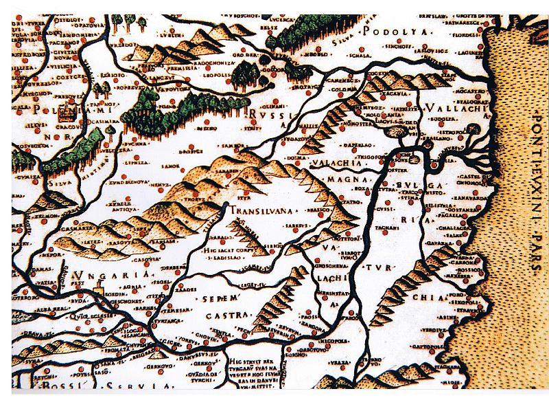 Fragment mapy Bernarda Wapowskiego (fot. silesiarace.pl)