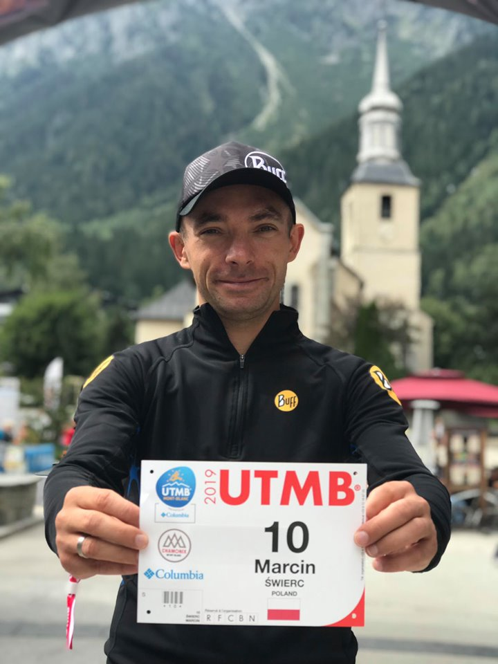 Marcin Świerc przed startem na trasie UTMB (fot. Marcin Świerc FanPage FB)