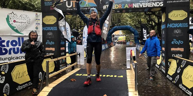 Natalia Tomasiak w Ultra Trail Lake Orta (fot. Przemysław Ząbecki)