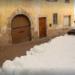 Ratrak przygotowujący trasę La Ciaspolada (fot. rainews.it / TGR)