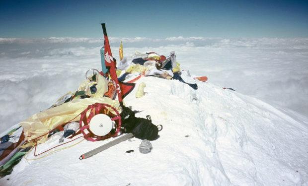 Na szczycie Mount Everestu – 5 czerwiec 2005 (fot. M. Miotk)