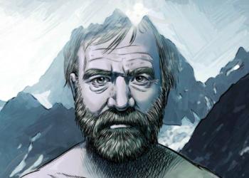 "Fragment komiksu ""The Iceman, a Wim Hof story"""
