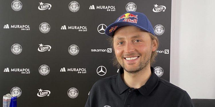 Andrzej Bargiel podczas zdalnej konferencji prasowej, 14.04 (fot. Biuro Prasowe Hic Sunt Leones)